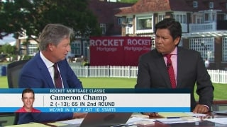 Chamblee compares to Champ's growing period to that of Mickelson