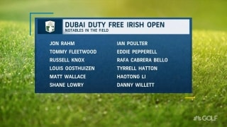 Favorites in the field at the Dubai Duty Free Irish Open
