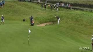 No problem: Kaymer holes delicate downhill chip shot