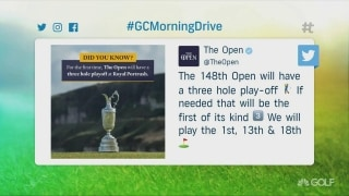 One-off or not, The Open's three-hole playoff is a good idea
