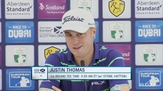 Thomas still trying to figure out links golf in Scotland