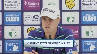 Thomas curious how turf will affect wrist in Scotland