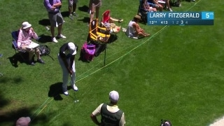 Larry Fitzgerald chips in on 13 at American Century Championship