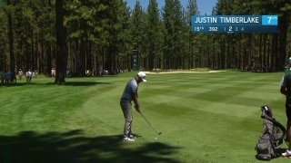 Justin Timberlake's incredible approach on 15 at American Century Championship