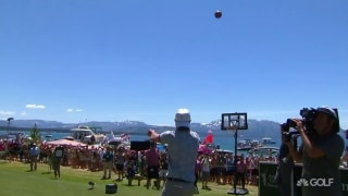Highlights: Justin Timberlake makes up for air ball with quality shot to the green