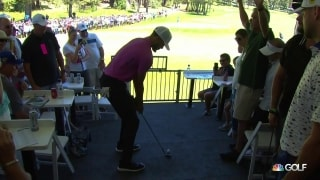 Up close and personal: Steph Curry takes shot from 14th chalet at ACC