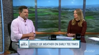 Impact of weather on early tee times at The Open