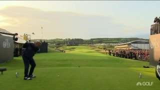 Clarke blisters first tee shot at a Royal Portrush Open since 1951