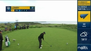 Lowry nearly aces 378-yard, par-4 fifth hole