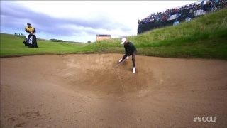 Splash zone: Scott finds bunker trouble on 17th