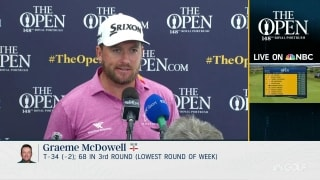 G-Mac (68) loving the 'amazing' support at Royal Portrush
