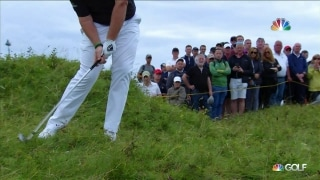 And it sticks! Lowry's impressive escape from the rough