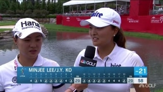 M. Lee/ J.Y. Ko: First LPGA players to break 60 in team event