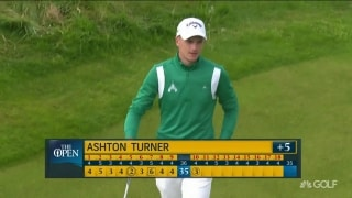Pop, plop and roll: Turner holes out for birdie