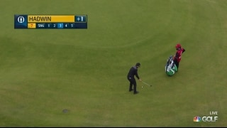 Hadwin holes out for eagle at par-5 second