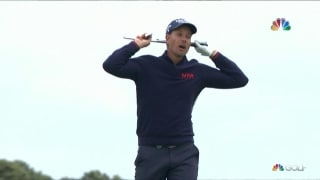 Shank and a snap: Stenson's club pays price for awful shot