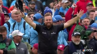 For the fans: Lowry soaks up support on walk up 18 at The Open