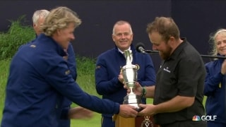 Lowry lifts the claret jug as the 2019 Champion Golfer of the Year