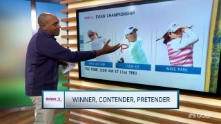 Winner, Contender, Pretender at the Evian Championship