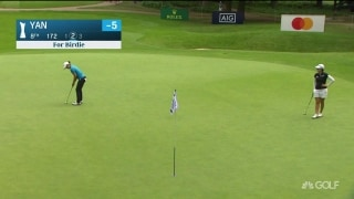 Putt perfection! Yan's impressive birdie at AIG Women's British Open