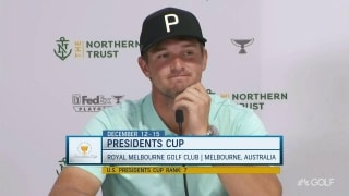 DeChambeau talks Presidents Cup: 'I've got to work a little harder'
