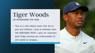 Woods WD due to 'oblique strain' comes as surprise