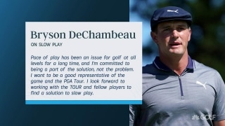 DeChambeau issues statement on slow play