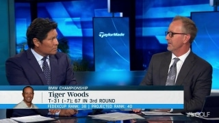 Duval: 'Absolute worst case is 66' for Tiger on Sunday at Medinah