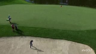 What a way to make your first birdie: Boutier from the bunker