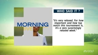 Who said it? Round 1 of the Tour Championship
