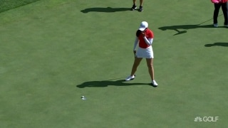 Tough hang: Anannarukarn's putt won't drop