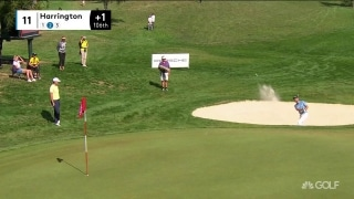 Harrington holes out from bunker for first birdie
