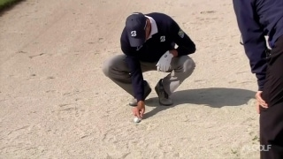 More Kuchar controversy: Picks away at sand in waste bunker