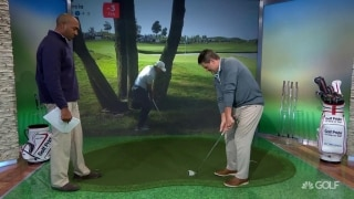 Watch and learn: Sergio's 'hit and stop' hooking wedge shot
