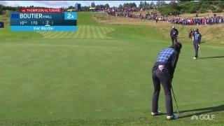 Boutier rolls in birdie from fringe to start back nine