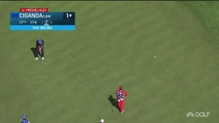 Clutch Ciganda sinks putt on 17 to extend match