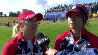 Pressel with Alex: 'Proud of the way we battled back'