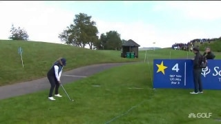 Liked Law's birdie? Wait until you see her blind approach shot
