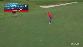 Altomare drops a putt that Hull and Munoz can't match