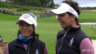 Hall: 'It's like a four-club wind out here' at Gleneagles