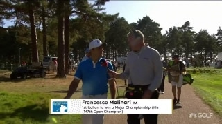 Molinari: 'Not easy' in windy conditions at Wentworth