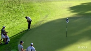 Rose holes out for eagle on 17 at BMW