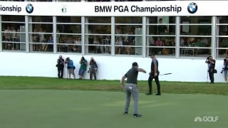 Rahm sinks putt to close out a third-round 68 at BMW