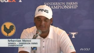 Munoz (70) all smiles after life-changing PGA Tour victory at Sanderson