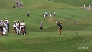 UL Innovative Shot of the Day: M.J. Hur knocks it close on 7