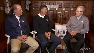 Rolfing chats with Ryder Cup captains at Whistling Straits