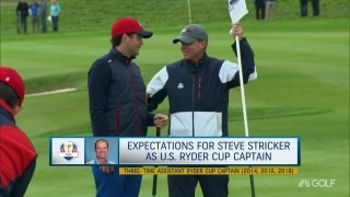 Expectations for Stricker as U.S. Ryder Cup captain