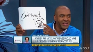 Fill in the blank: A Phil win at Shriners would make Tiger feel ____