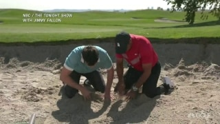 Tiger, Jimmy Fallon find buried treasure in a bunker