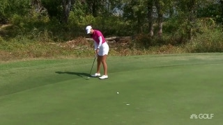 Knight curls in birdie putt to take the lead in Texas